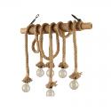 Lustre en bois à corde