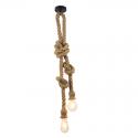 Hemp rope hanginglamp