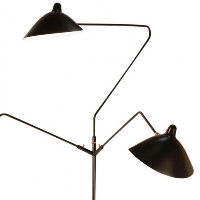 Vloerlamp 3 armen - Serge Mouille Inspiratie