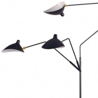 Floor lamp 3 arms - Serge Mouille Inspiration