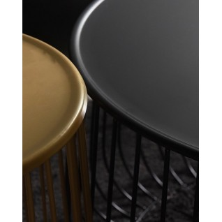 The round Lady coffee table black or golden