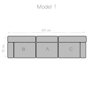 Modulaire bank 3 modules - Tetris