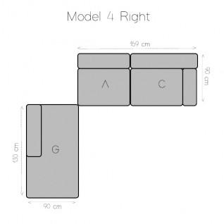 Modular sofa 3 modules - Tetris