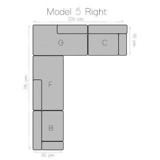 Modular corner sofa 3 modules - Tetris