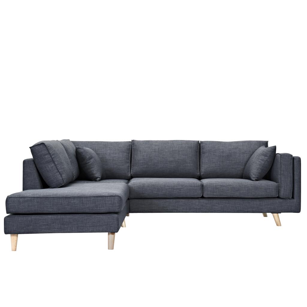 Fabric Corner Sofa With Chaise Longue