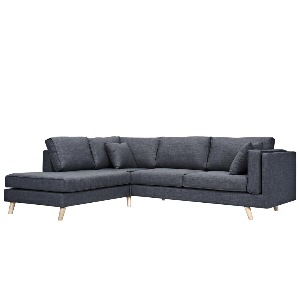 canap d 39 angle avec m ridienne 3 places en tissu qualit. Black Bedroom Furniture Sets. Home Design Ideas