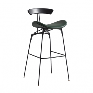 Gubi Black metal Bar stool