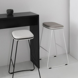 Lin Fabric Bar Stool