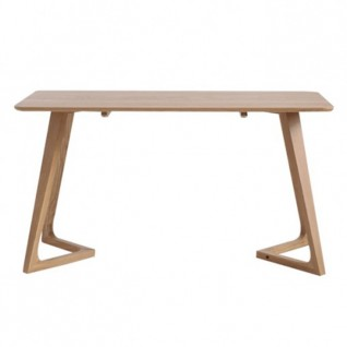 Rectangular table in natural or black oak - Vega