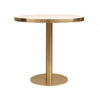 Round marble effect table - Bruno