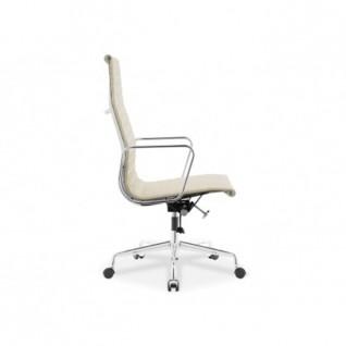 Bureaustoel Wit Leer Metalen Voet.Bureaustoel Ea119 Eames Reproductie Diiiz