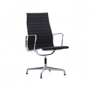 Chaise de bureau EA116 Cuir Aluminium Cuir - Inspiration Eames