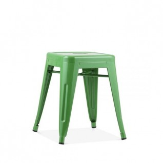 "Tolix Stool ""H45 Café Retro"" - Metal brushed"