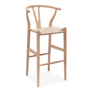 "Hans Wegner Wishbone ""y"" bar stool"