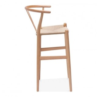 "Hans Wegner Wishbone ""y"" bar stool"