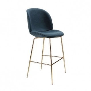 Beetle bar stool in Farbic - Gubi Inspiration