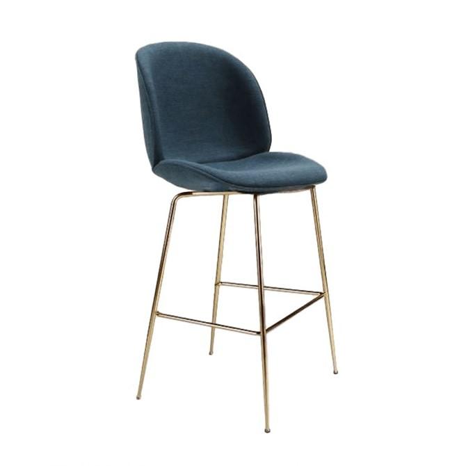Beetle bar stool in Farbic - Gubi Inspiration