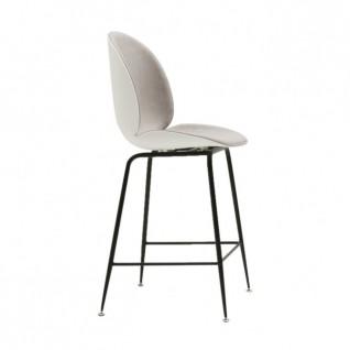 Chaise de bar en plastique et tissu BEETLE - Inspiration GUBI