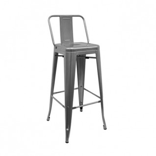 Tolix bar stool with backrest - Retro Café Tolix H80 H90