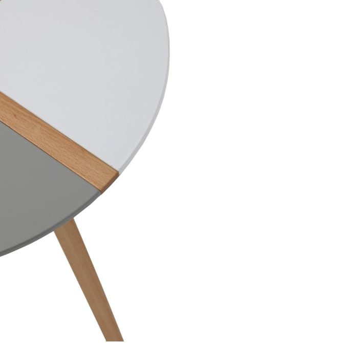 Round wooden coffee table - Lucina
