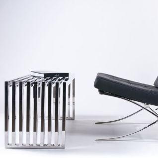 Banc d'acier 1 place - Inspiration Valentino Boretti