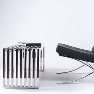 Steel Bench 1 seater - Valentino Boretti Inspiration