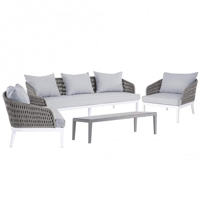 Dream Water Repellent Cord Garden Set, White Patio Furniture