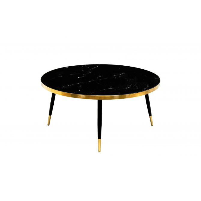 Table Ronde Marbre et laiton Band - inspiration Bethan Gray