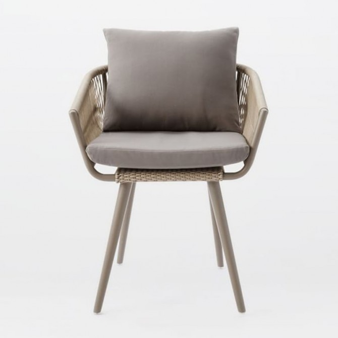 TWISTED Garden chair - West Elm