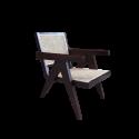 Pierre Jeanneret Lounge Chair Wicker