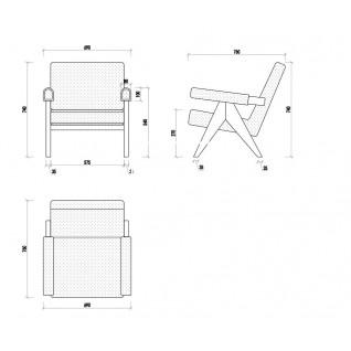 Chaise Lounge Pierre Jeanneret