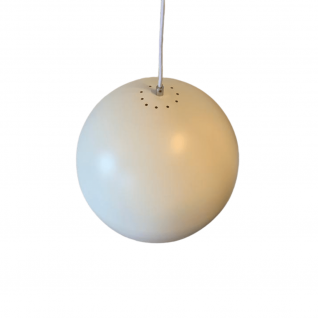 Suspension ronde blanche 34 cm x 32 cm