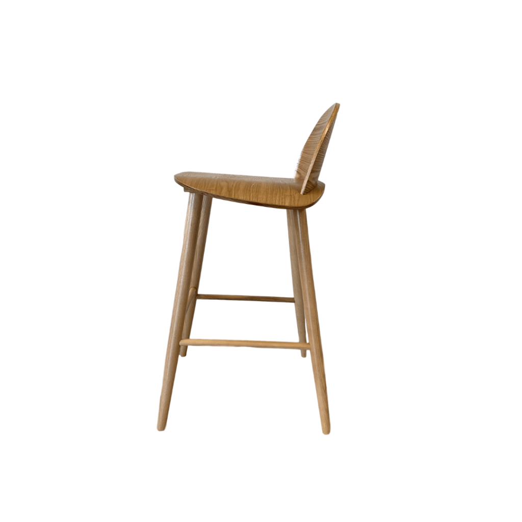Picture of: Glavo Wooden Bar Stool