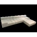 TULLY corner sofa  - white leather