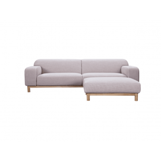 light Pink sofa & ottoman Charlotte