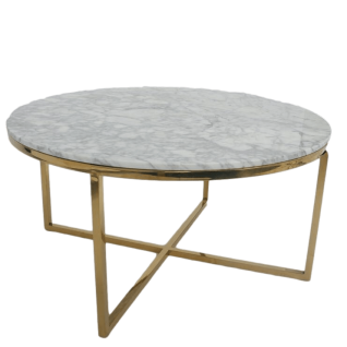 Valentina Marble and brass coffee table