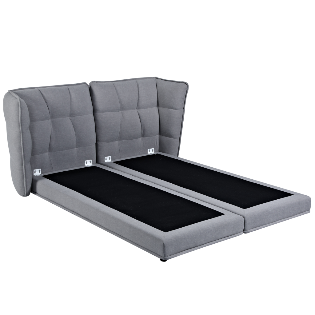 lit double 160 cm cannes encadrement de lit tissu. Black Bedroom Furniture Sets. Home Design Ideas