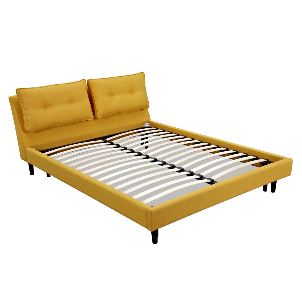 lit double 160 cm volex encadrement de lit en tissu. Black Bedroom Furniture Sets. Home Design Ideas