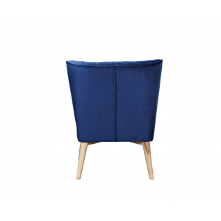 Retro Lula velvet one-piece armchair