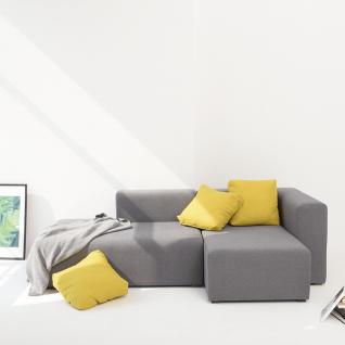 Canapé d'angle modulable en tissu - Tetris
