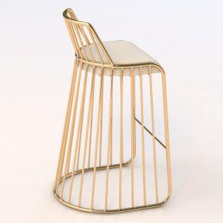 The golden Bride's Veil bar stool