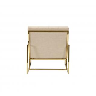 Fauteuil velours et tissu Lyon – cadre doré