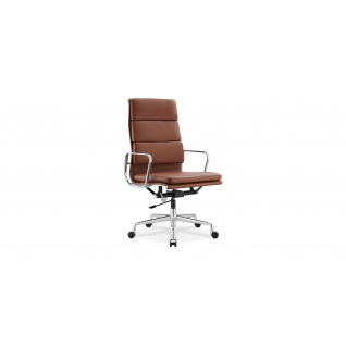 Office chair EA219 in leather - Eames Inspiration