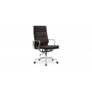 Chaise de bureau en cuir EA219 Soft Pad - Inspiration Eames