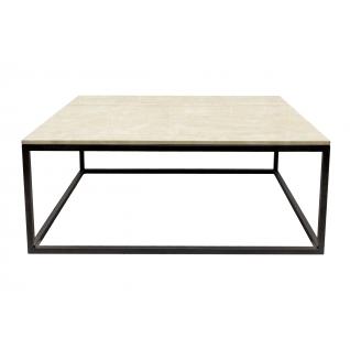 Rectangular Tan Marble Coffee Table