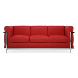 Canapé LC2 cuir 3 places 'Grand Sofa'