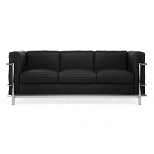 Canapé LC2 cuir 3 places 'Grand Sofa'