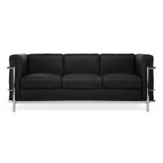 LC2 Leer Sofa 3 zitter 'Grand Sofa'
