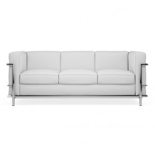 Canapé cuir 3 places 'Grand Sofa' -  Inspiration LC2