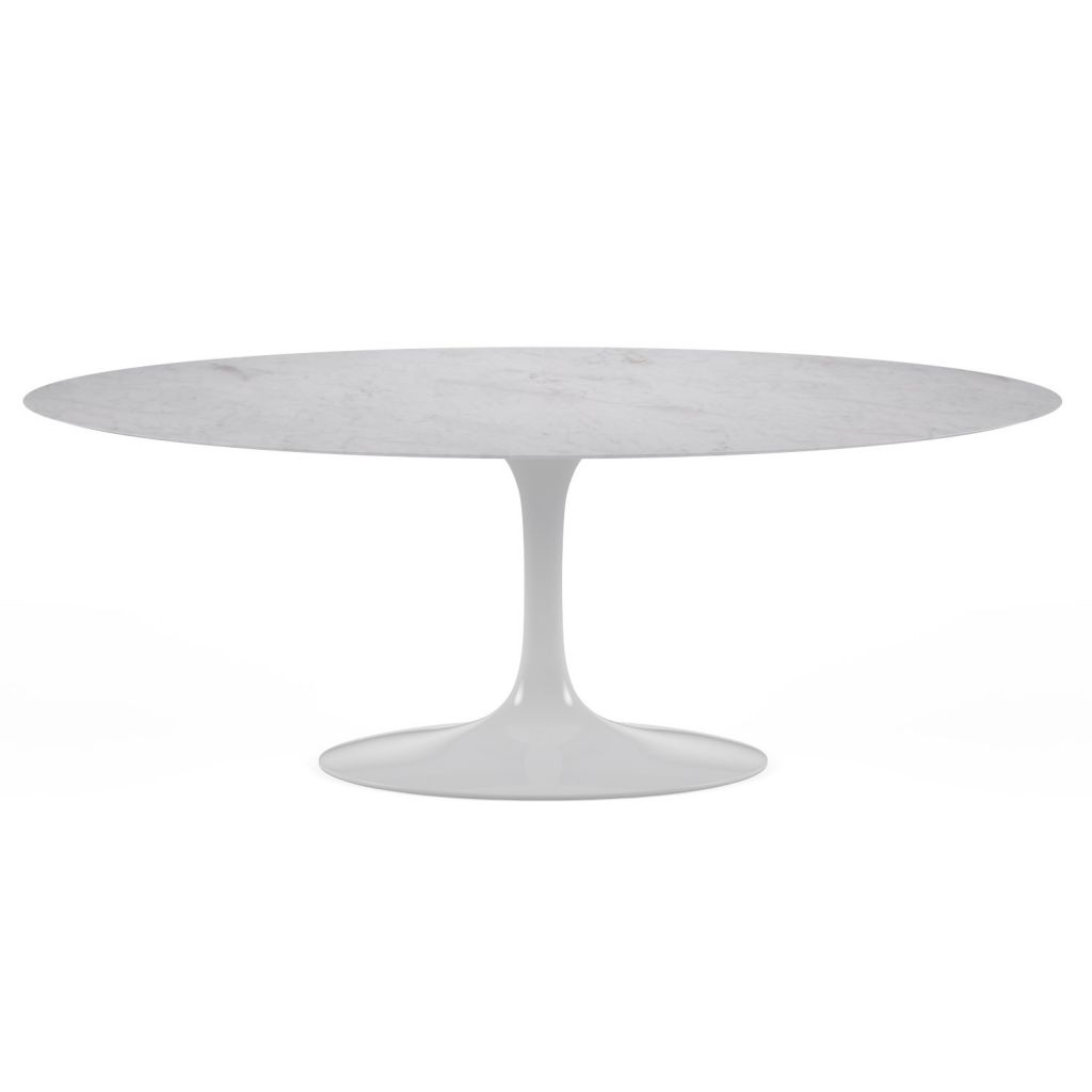 table ovale tulipe marbre reproduction knoll eero saarinen On table ovale marbre